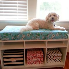 For the Love of Character: Storage Bench - DIY Cushion: How to make a bench/window seat cushion in 30 minutes