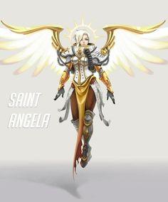 Mercy needs a saint / archangel skin Overwatch Mercy, Genji Overwatch, Overwatch Fan Art, Character Concept, Character Art, Concept Art, Character Design, Overwatch Support, Overwatch Skin Concepts