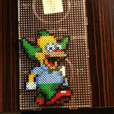 Simpsons Krusty the Clown perler beads by sajagee