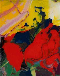 Gerhard Richter  Sinbad  2008  30 cm x 24 cm  Enamel on back of glass