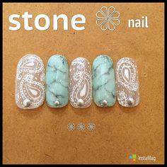 nice ツヤキラ天然石ネイル。いつもよりちょっとリッチにオトナっぽく。|MERY