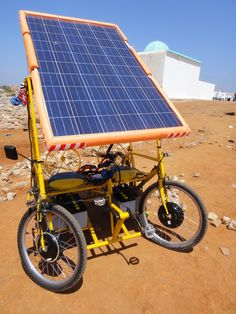 Solar-E-Cycle - First prototype 2x250W, one panel, 48V, top speed 30km/h