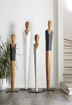 Laminate Flooring Prices, Laminate Flooring In Kitchen, Steel Sculpture, Modern Sculpture, Sculpture Art, Boutique Interior, Wood Carving Art, Wood Art, Man Cave Flooring Ideas
