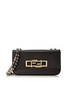 Fendi Borsa A Spalla Mini '3Baguette' Crossbody Bag (Nero)