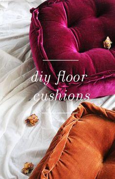 Floor Pouf, Floor Cushions, Diy Craft Projects, Diy Crafts, Sewing Projects, Sewing Hacks, Sewing Ideas, Mattress On Floor, Diy Mattress