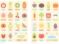 i'd love to hang this on my kitchen wall // fruit and veg prints by mitchell and dent