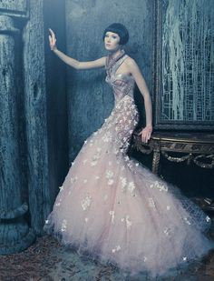 Nicolas Jebran 2012 Haute Couture Collection #wedding #bridal #gown #dress #pink jαɢlαdy