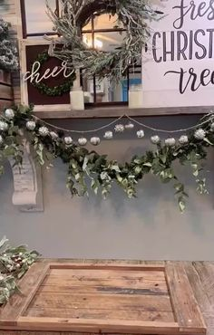 We are loving this simple by 😍 Our Milos Pillar are a perfect match with the Frosted Mistletoe Candle Rings. 🕯 diy centerpieces videos Simple Winter Centerpiece Tutorial by Farmhouse Christmas Decor, Rustic Christmas, Christmas Home, Christmas Fireplace, Christmas Garden, Christmas Mantels, Modern Christmas, White Christmas, Farmhouse Decor