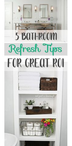 Bathroom makeover ideas and tips (most of them for cheap!) with a great return on your investment