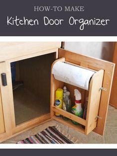 Kitchen Cabinet Door Organizer Paper Towel Holder | Ana White