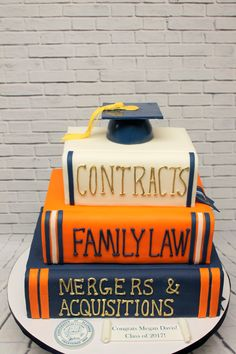 Graduating from law school is no small feat.neither is eating this awesome custom cake! Graduation Cookies, Graduation Ideas, Graduation Celebration, Celebration Cakes, Graduate School, Law School, Lawyer Cake, Teacher Cakes, Dad Birthday Cakes