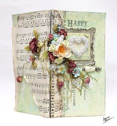 Happy birthday card backside middle 664 wm- ingvild bolme - prima - shabby chic - handmade - scrapbook - shabby chic treasures
