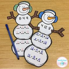 and Christmas Math Crafts for First Grade! Double Dose of Learning: Winter and Christmas Math Crafts for First Grade!Double Dose of Learning: Winter and Christmas Math Crafts for First Grade! Teaching First Grade, Third Grade Math, Elementary Teaching, Teaching Math, 1st Grade Math Games, Grade 1, Sixth Grade, Second Grade, Teaching Tools