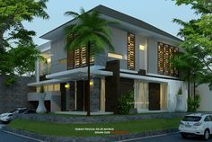 Desain Rumah Pojok Semy Basement arsitektur rumah tropis modern kavling hook 2 1/ & Desain Rumah Minimalis-Kavling Sudut/Hook | property 》45m2-Type ...