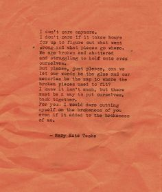 Typewriter poem #102 | Mary Kate Teske