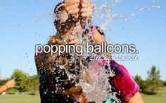 Fun when they r water balloons. I will never forget popping a balloon in art class. So embarrassing... Cringe worthy