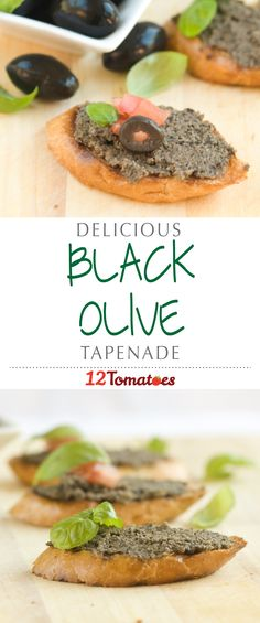 Black Olive Tapenade | This tapenade is such a great recipe for entertaining because it tastes delicious and comes together in a matter of minutes!