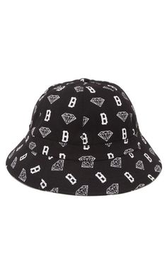 Diamond Supply Co B Brilliant Bucket Hat - Mens Backpack - Black - One b2e315d63dd4