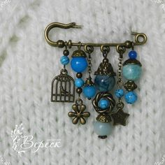 Safety Pin Crafts, Safety Pin Jewelry, Safety Pins, Jewelry Crafts, Jewelry Art, Jewelry Design, Fashion Jewelry, Brass Jewelry, Beaded Jewelry