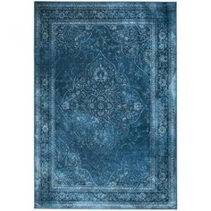 Tapis de salon iranien Rugged bleu Dutchbone