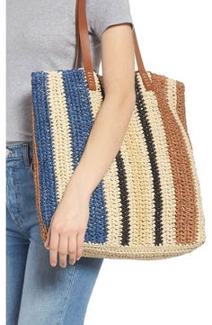 Product Image 1 – Knitting patterns, knitting designs, knitting for beginners. Crochet Tote, Crochet Handbags, Crochet Purses, Knit Crochet, Knitting Patterns, Crochet Patterns, Purse Styles, Knitted Bags, Crochet Accessories