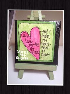 Itty Bitty Canvas Heart House Mini By NorasArtShoppe