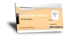 Free Job Card PSD http://latestbusinesscards.com/fully-customizable-employee-id-card
