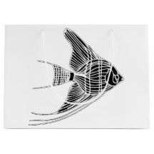 Black and White Tropical Fish Gift Bag
