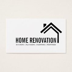 House Home Remodeling Renovation Construction Business Card