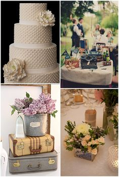 Love the cake! - Glam vintage wedding ideas #Vintage #Wedding #Ideas