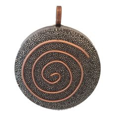 "Orgone, Orgonite Pendant, Orgonite Necklace, Copper Spiral, Steel Micro Beads, Orgone Generator, 1.5"" Round, Copper Bail, EMF Protection by AttunementShop on Etsy"