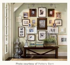 """We all have a ton of photos - either in a box, stored in the computer or still in the camera. It's time to get them out and up on the wall! But if you are like me, you get a bit overwhelmed with how to hang a """"gallery"""" of pictures. Corea Sotropa Interior Design is here to help . They have put together some hints, photos and drawings to help us create the wonderful photo gallery that we have all dreamed of. Click here."""