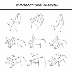 How to Draw Manga/Anime Hand positions, face, text; How to Draw Manga/Anime Hand Reference, Drawing Reference Poses, Anatomy Reference, Drawing Skills, Drawing Poses, Drawing Techniques, Drawing Tips, Drawing Hands, Drawing Ideas