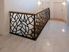 Schody dywanowe na beton P212-01 Staircase Railing Design, Modern Stair Railing, Staircase Makeover, Balcony Grill Design, Balcony Railing Design, Modern Hallway, Modern Stairs, Jaali Design, Modern Interior