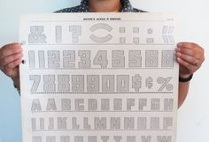 Large Bulls-eye Typography Poster Alphabet Numeral by TheeLetterQ