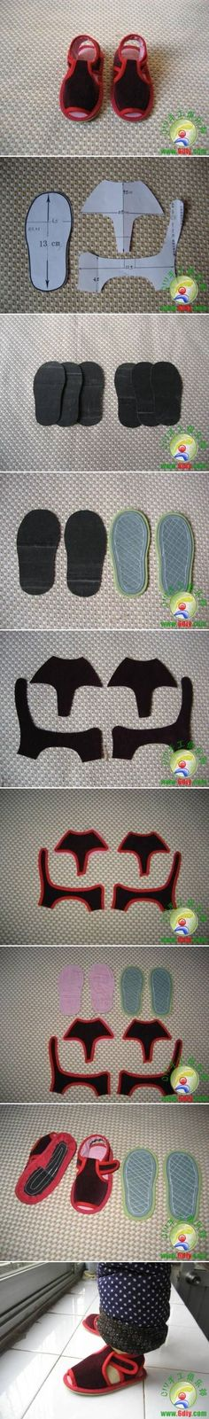 DIY Sew Baby Sandal DIY Sew Baby Sandal ...<3 Deniz <3
