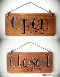 6x12 Hand Lettered Business Sign For by Knotooshabbystudio on Etsy