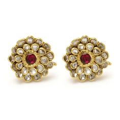 Kundan Flower Earrings