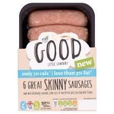 A list of low syn sausages. Includes syn values for low fat sausages such as Heck, Asda, Mallons and more. Low Fat Sausages, Slimming World Shopping List, Slimming World Free Foods, Slimming World Sausages, Slimming World Survival, Cumberland Sausage, Skinny Pig, Best Sausage