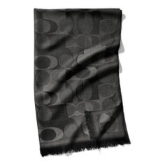 The Jigsaw C Wrap from Coach  -  black.    lj