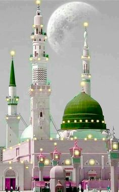 Mosque of the Prophet in Al Masjid al-Nabawi in Medina Saudi Arabia Islamic Images, Islamic Videos, Islamic Pictures, Islamic Art, Islamic Quotes, Al Masjid An Nabawi, Masjid Al Haram, Mecca Masjid, Beautiful Mosques