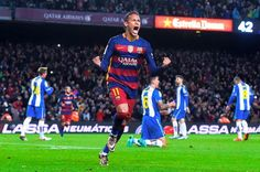FC Barcelona v RCD Espanyol (4-1) Goals: Messi (12'   43'); Piqué (48'); Neymar (88')   Caicedo (9')