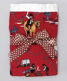 Maroon Cowboy Silky Blanket