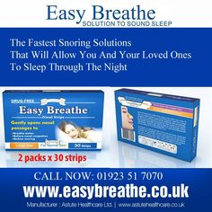 The Fastest Snoring Solutions That Will Allow You And Your Loved Ones To Sleep Through The Night... To know more Visit at: www.easybreathe.co.uk Or Call Us at: 01923517070
