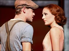 Photo of Jeremy Jordan as Clyde Barrow and Laura Osnes as Bonnie Parker in Bonnie & Clyde. Bonnie And Clyde Musical, Bonnie And Clyde Photos, Bonnie Clyde, Musical Theatre Broadway, Music Theater, Musicals Broadway, Laura Osnes, Bonnie Parker, Theatre Nerds