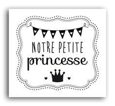 Tampon bois - Notre Petite Princesse