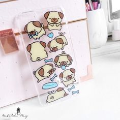 Hand Painted Baby Puppy Pug Phone Case