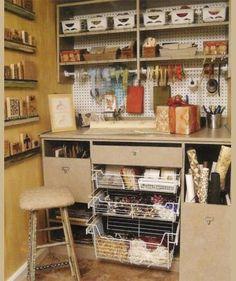 Turn a Closet into a Compact Craft Area