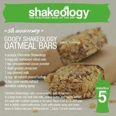 Shakeology Oatmeal Bars www.fitfabnh.com