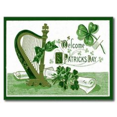 ==>Discount          Vintage Welcome Shamrock Harp St Patrick's Day Post Cards           Vintage Welcome Shamrock Harp St Patrick's Day Post Cards Yes I can say you are on right site we just collected best shopping store that haveDeals          Vintage Welcome Shamrock Harp St Patri...Cleck Hot Deals >>> http://www.zazzle.com/vintage_welcome_shamrock_harp_st_patricks_day_postcard-239646730832649825?rf=238627982471231924&zbar=1&tc=terrest